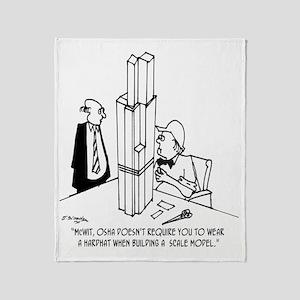 3694_OSHA_cartoon Throw Blanket