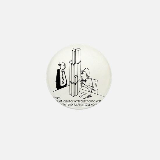 3694_OSHA_cartoon Mini Button