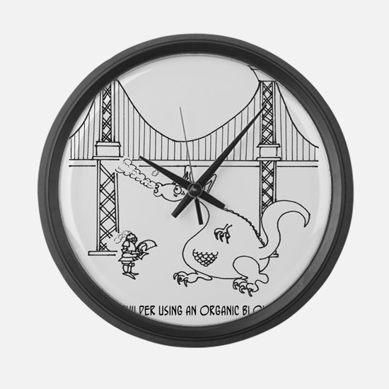 3697_welding_cartoon_FH Large Wall Clock