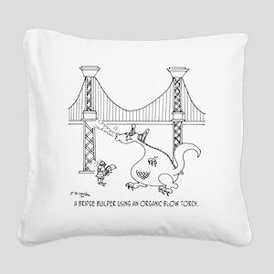 3697_welding_cartoon_FH Square Canvas Pillow