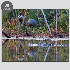 Great Blue Heron and Gator Puzzle