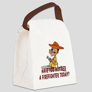 firefighterhugtoday Canvas Lunch Bag