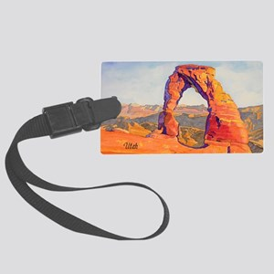 DelicateArch15x22AutoContUtah200 Large Luggage Tag