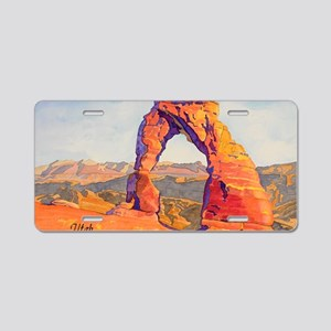 DelicateArch15x22AutoContUt Aluminum License Plate