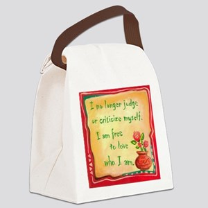 no criticize framed keepsake box Canvas Lunch Bag