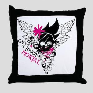 Mortal Skull Throw Pillow
