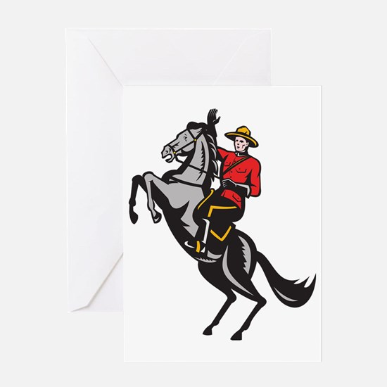 Canadian Mounted Police Mountie Ridi Greeting Card
