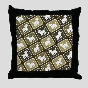 poodlepatternpillow2 Throw Pillow