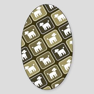 poodleskindle2 Sticker (Oval)