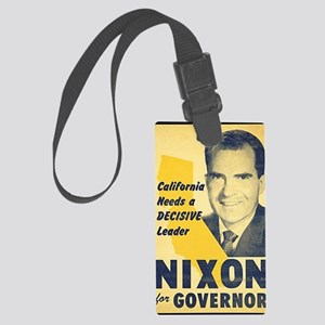 ART Nixon for Governor Large Luggage Tag