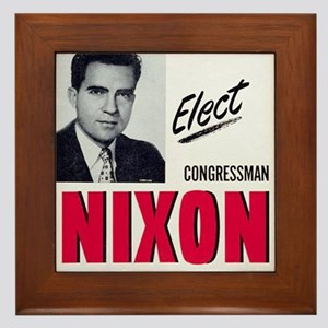 ART Nixon for Senate Framed Tile