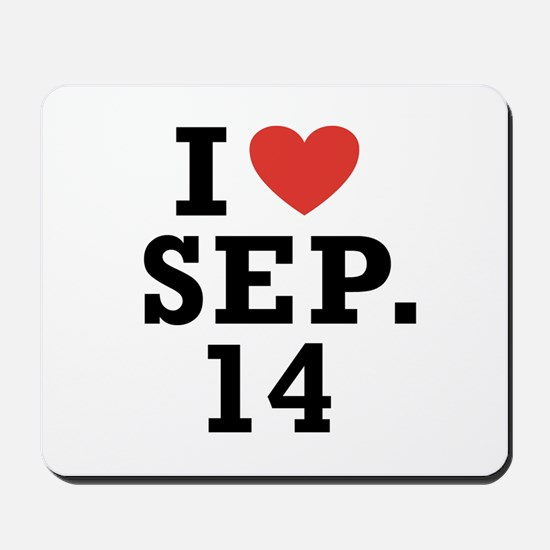 I Heart September 14 Mousepad