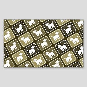 poodlelaptopskin Sticker (Rectangle)