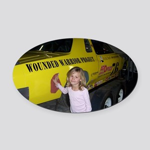 Jan Oval Car Magnet