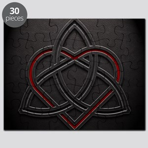 Celtic Knotwork Leather Valentine Heart Puzzle