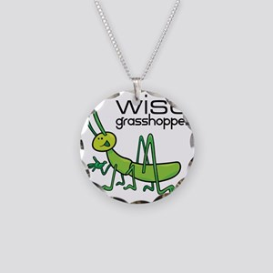 grasshopper Necklace Circle Charm