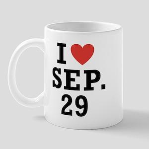 I Heart September 29 Mug