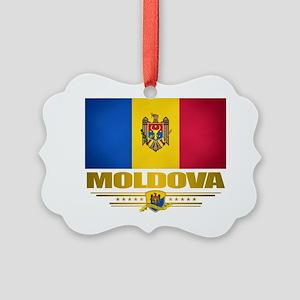 Moldova (Flag 10) 2 Picture Ornament