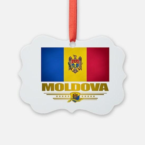 Moldova (Flag 10) 2 Ornament