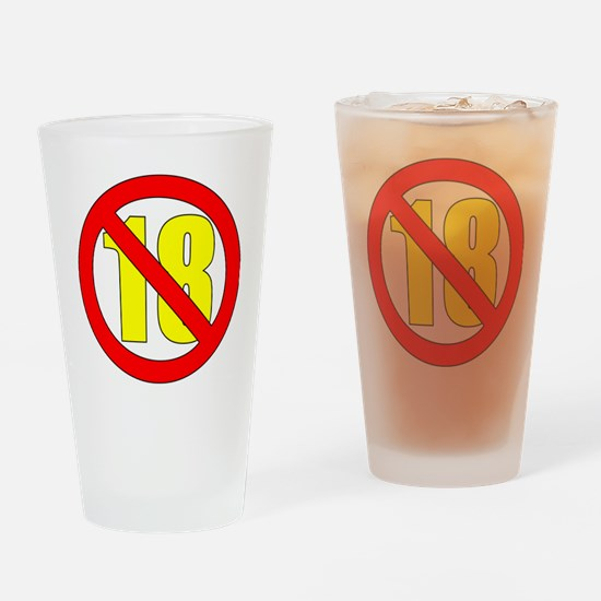 18-white Drinking Glass