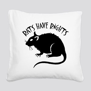RatsHaveRights Square Canvas Pillow