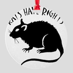 RatsHaveRights Round Ornament