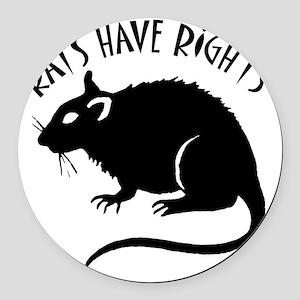 RatsHaveRights Round Car Magnet