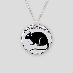 RatsHaveRights Necklace Circle Charm
