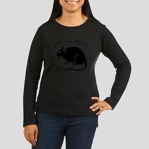 RatsHaveRights Women's Long Sleeve Dark T-Shirt