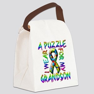 I Wear A Puzzle for my Grandson Canvas Lunch Bag