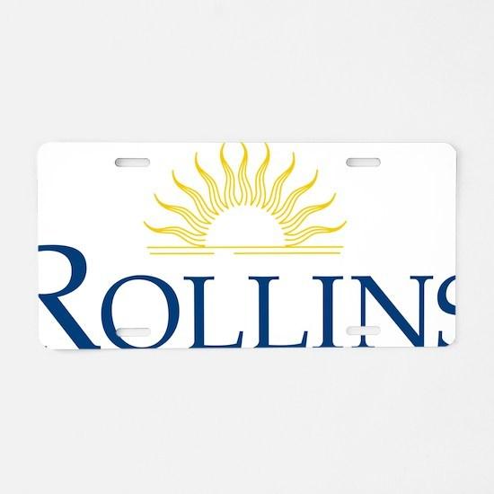 Rollins 2clr - 10 Aluminum License Plate