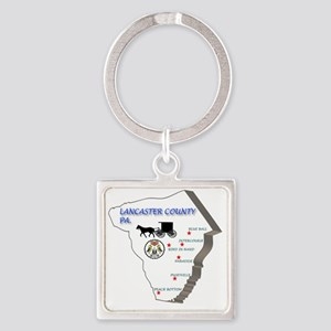Lancaster county PA Square Keychain