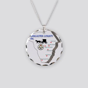 Lancaster county PA Necklace Circle Charm