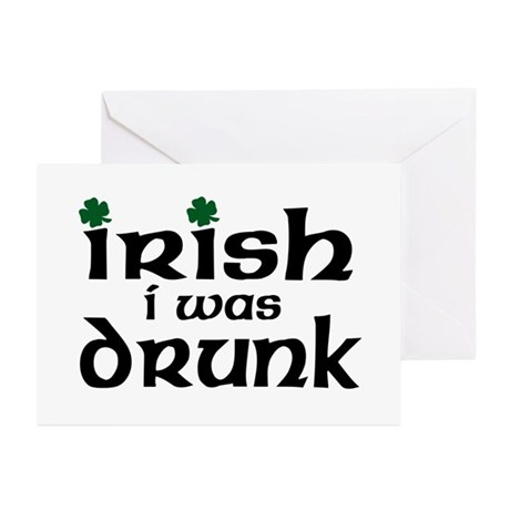I Wish I Were Drunk Greeting Cards (Pk of 10)