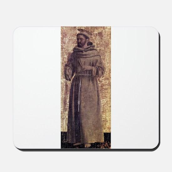 Saint Francis - Piero della Francesca Mousepad