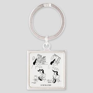 8718_genetics_cartoon Square Keychain