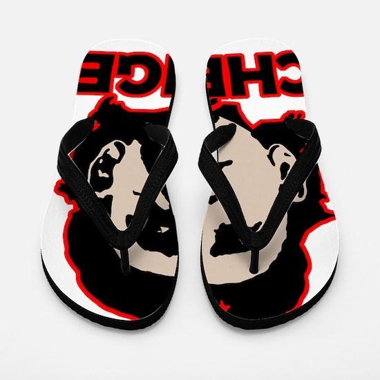 Che-Bama v4 Black Grey On Red Flip Flops