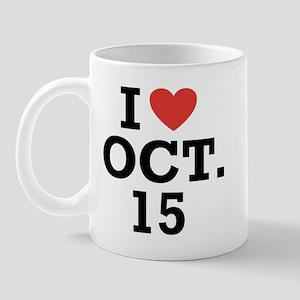 I Heart October 15 Mug