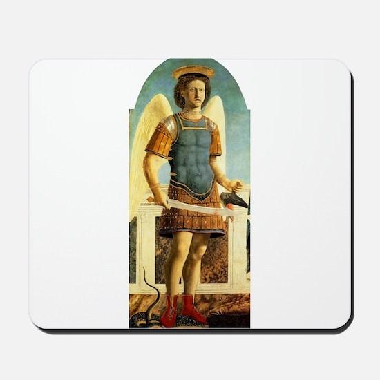 Saint Michael - Piero della Francesco Mousepad