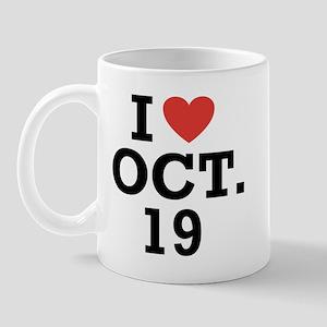 I Heart October 19 Mug