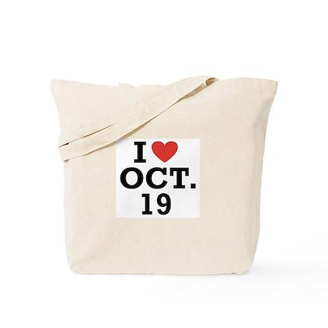 I Heart October 19 Tote Bag