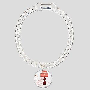 he_turns_me_on_4 Charm Bracelet, One Charm