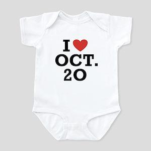 I Heart October 20 Infant Bodysuit