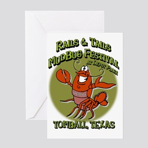 Crawfish festival -  Rails and Tails Greeting Card