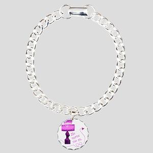he_turns Charm Bracelet, One Charm