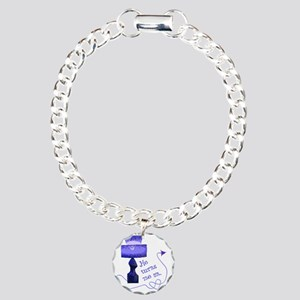 he_turns_4 Charm Bracelet, One Charm