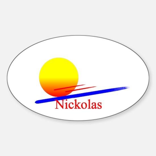 Nickolas Oval Decal