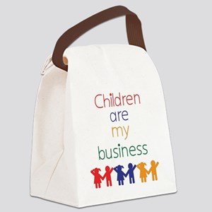 Children-are-my-business-bigger Canvas Lunch Bag