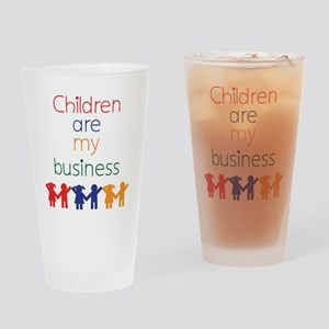 Children-are-my-business-bigger Drinking Glass
