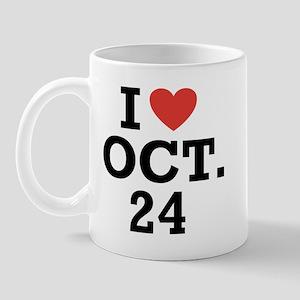 I Heart October 24 Mug